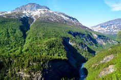 Utsikt over Junkerdalsura i Saltdal     http://www.tursiden.no/utsikt-over-junkerdalsura-i-saltdal/