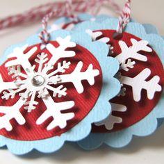 Snowflake Christmas Tags via Etsy.