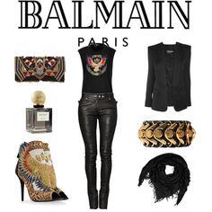 Balmain, created by nuria-pellisa-salvado on Polyvore