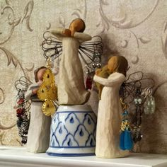 Willow Tree angels make great earring holders.