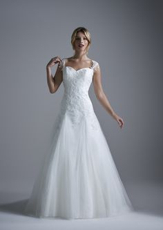 211733579c69 Exeter ~ A fairytale lace and soft tulle wedding dress with lace straps and  a sweetheart