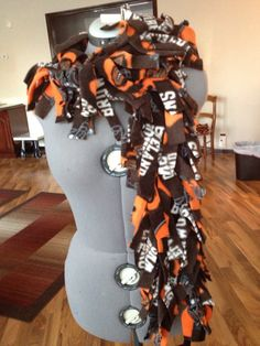 Cleveland Browns Fleece Fringed Scarf by aircooledclothes on Etsy, $12.50