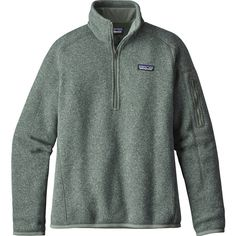 Patagonia Womens Better Sweater 1/4 Zip - XXS - Hemlock Green -... ($69) ❤ liked on Polyvore featuring tops, sweaters, green, slimming tops, slim fit sweaters, quarter zip sweater, patagonia sweater and patagonia