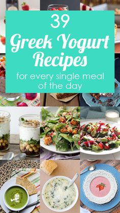 *39 Greek Yogurt Recipes for Every Meal of the Day - recipes for breakfast, lunch, dinner, and dessert using Greek yogurt!
