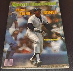Sports Illustrationd : Reggie Jackson Going Going Gone 1980 by ParagonAlley on Etsy