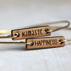 Happiness bracelet yoga jewelry by TinyWhaleStudio on Etsy, $20.00 Tiny Whale Studio