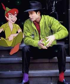 Michael - the real Peter Pan ;) ..  I love how his socks are different colors, he's so cute!