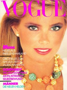 Kelly Emberg by John Stember Vogue Deutsch July 1980 Vogue Magazine Covers, Vogue Covers, Michelle Alves, Kelly Emberg, Kim Alexis, Kirsty Hume, Crystal Renn, Janice Dickinson, Sophie Dahl
