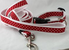 diy dog leash and collar - maybe a christmas collar ;)