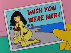 Simpsons Betty Page