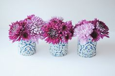 center pieces out of coffee cans | Juneberry Lane: Chic & Affordable Centerpieces; The Wrapped Vase...