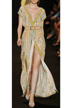 Paul & Joe bohemian style printed silk maxi dress. eclectic print