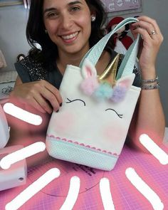 Discover thousands of images about cute bag diy Cute Crafts, Felt Crafts, Diy And Crafts, Crafts For Kids, Diy Unicorn Bag, Unicorn Crafts, Toy Unicorn, Unicorn Birthday Parties, Unicorn Party