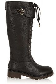 Tory BurchWesley textured-leather knee boots