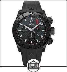 EDOX RELOJ DE HOMBRE CUARZO 45MM CORREA DE GOMA COLOR NEGRO 10014 37NC NRO de  ✿ Relojes para hombre - (Lujo) ✿