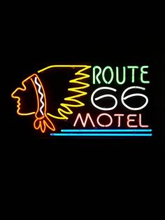 Free People Vintage Route 66 Neon Sign