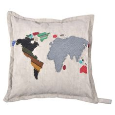 I pinned this World Map Pillow from the Bohemian Rhapsody event at Joss and Main!
