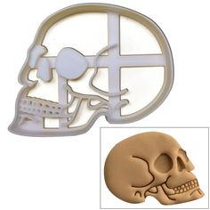 Amazon.com: Anatomical Skull Cookie cutter, 1 pc, Ideal for Medical themed party: Kitchen & Dining