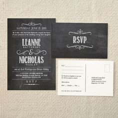 Wedding Invitation & Reply  Handlettered by AmyAdamsPrintables