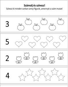 Számlálós, színezős, rajzolós | Down Egyesület Community Helpers Worksheets, Preschool Learning, Kindergarten Worksheets, Preschool Activities, Math For Kids, Play To Learn, Pre School, Cool Kids, Classroom