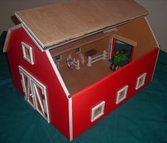 Hand Crafted Wooden Toy Barn By Mintdesigners On Popsicle Stick Crafts Craft