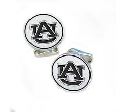 Auburn Tigers Sterling Silver Cufflinks
