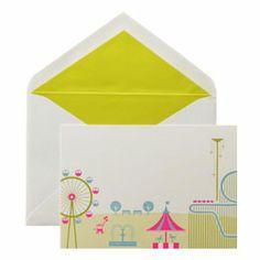 カード・封筒セット 遊園地|ウイングド・ウィール
