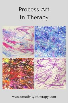 Process Art In Therapy Creativity in Therapy art therapy interventions and ideas Art Therapy Projects, Art Therapy Activities, Art Projects, Therapy Ideas, Play Therapy, Group Activities, Children Activities, Music Therapy, Process Art