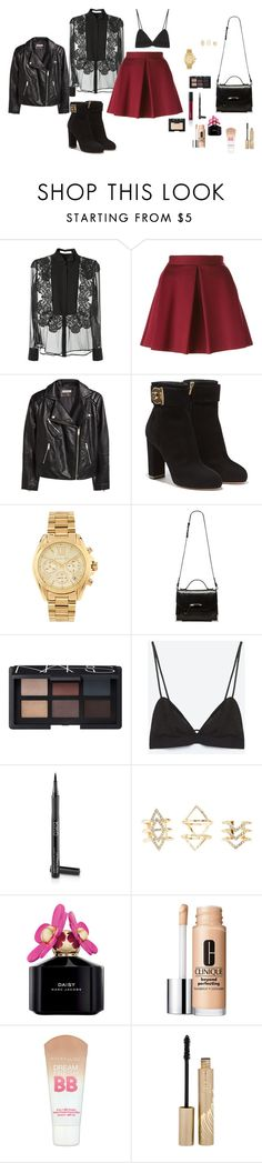 """M"" by butnotperfect ❤ liked on Polyvore featuring Givenchy, P.A.R.O.S.H., H&M, Salvatore Ferragamo, Michael Kors, Mackage, NARS Cosmetics, Arbonne, Ultimate and Charlotte Russe"