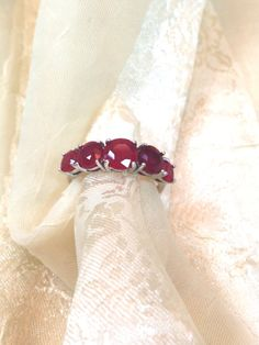 Ruby Ring or Engagement Ring 5 Gemstones Handmade by NorthCoastCottage Jewelry Design & Vintage Treasures on Etsy.com, $399.00