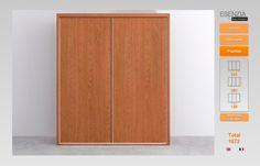 Aqui podemos ver el armario de 2 puertas correderas que es todo en color cerezo ya que ahora vamos a cambiar las puertas pues las queremos diferentes