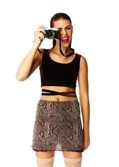 Double Cross Brown Velvet Crop Top X American Deadstock OMG Is that #Deadstock? Duh! SHOP #Sunglasses #Tops #Bottoms #Skirts #Bodysuits #Apparel #Accessories & More!