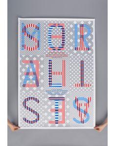 Niessen  de Vries a Dutch graphic design duo of Richard Niessen  Esther de Vries.    #typography #design #type #letters #numbers #pattern