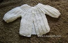 Image result for crochet baby cardigan