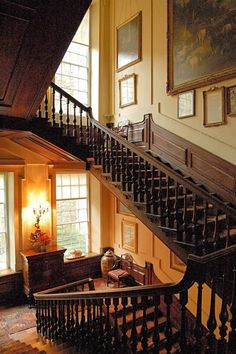 Calke Abbey, Derbyshire – Main Stairs. Amazing; the estate is so impressive.