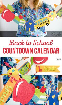 Back to School Countdown Calendar | School is Cool kids Craft. Help banish those back to school butterflies with this easy craft. It's also a great keepsake for them to look back on.