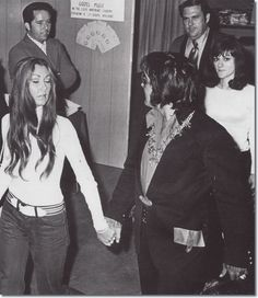 Linda Thompson and Elvis Presley - Gospel Convention, sometime in the fall of 1972