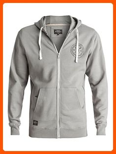 Quiksilver Waterman Men's Ring the Bell Zip Hoody Sweatshirt, Grey, XL - Mens world (*Amazon Partner-Link)