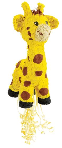 """Giraffe 21"""" """"Pull-String"""" Pinata-whew - somehow hitting my favorite animal with a stick until it breaks open just seems completly wrong!"""