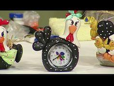 Sabor de Vida Artesanatos   Relógio de Galinha por Elisangela Sendretti - 17 de Agosto de 2014 - YouTube