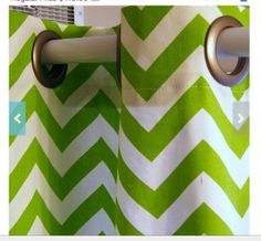 "lime green chevron 80"" shower curtain"