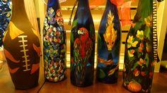 Wine bottle crafts wine bottle crafts creative ideas for for Wine bottle crafts for sale