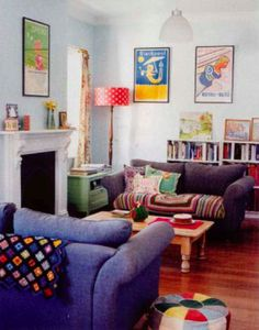 Colorful, kid-friendly living room/den from Country Style Australia