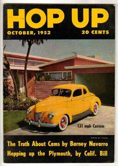 Hop Up October 1952 Old Vintage Car Magazine Classic Custom Hot Rod SCTA Racing