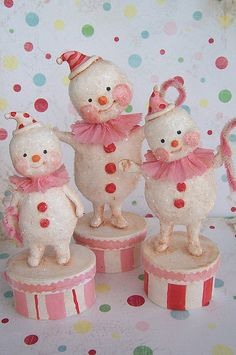 cute snowman clowns
