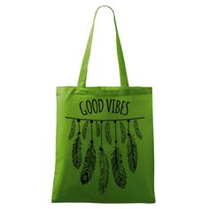 Good Vibes bag Yoga bag Eco-friendly printed in many by DrasiShop