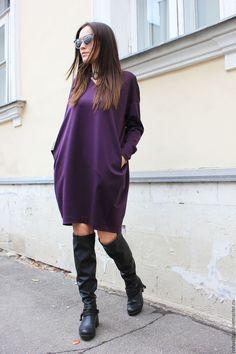 Купить Платье Purple Furia - тёмно-фиолетовый, платье, короткое платье, фиолетовый, фиолетовое платье