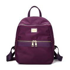 Fabra Small Waterproof Nylon Women Backpack Fashion Black Shoulder Back Bag Preppy Style Backpacks for Teenage Girls 24*13*30 cm