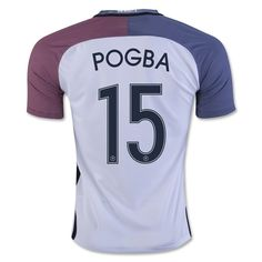 France Euro 2016 Away Authentic Men Soccer Jersey POGBA #15