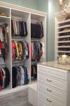 walk in closet-master bathroom , my guest bedroom turn into a walk in closet. Cust...